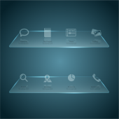 Glass web Interface design material vector 03 [Converted]